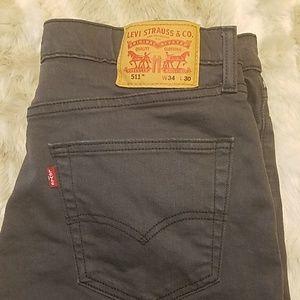 Grey 34x30 511 slim Levi's jeans